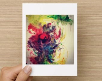 Expressive colourful handmade cards