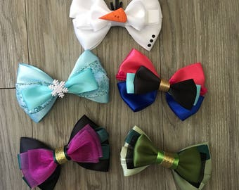 The Ice Queen & Pals Inspired Hair Bows