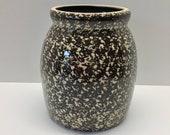 1994 Beaumont Brothers Salt Glazed Pottery BBP Spongeware Crock