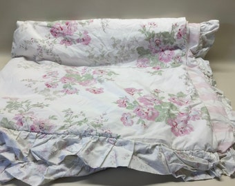 Simply Shabby Chic Floral Duvet with Quilted Insert ~ Rachel Ashwell ~ Shabby Chic ~ Cottage Chic