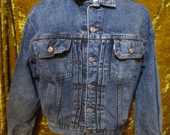 24f674a2e0 Vintage Levis Silver Tab Denim Jacket Coat Size Medium M