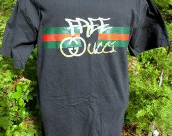 8da943fa383 Bootleg Gucci Mane Free Gucci Black Tshirt Size Large L Hip Hop