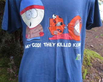 77a527d2c89 Vintage 1997 South Park Oh My God They Killed Kenny Comedy Central T-Shirt  Size Large L