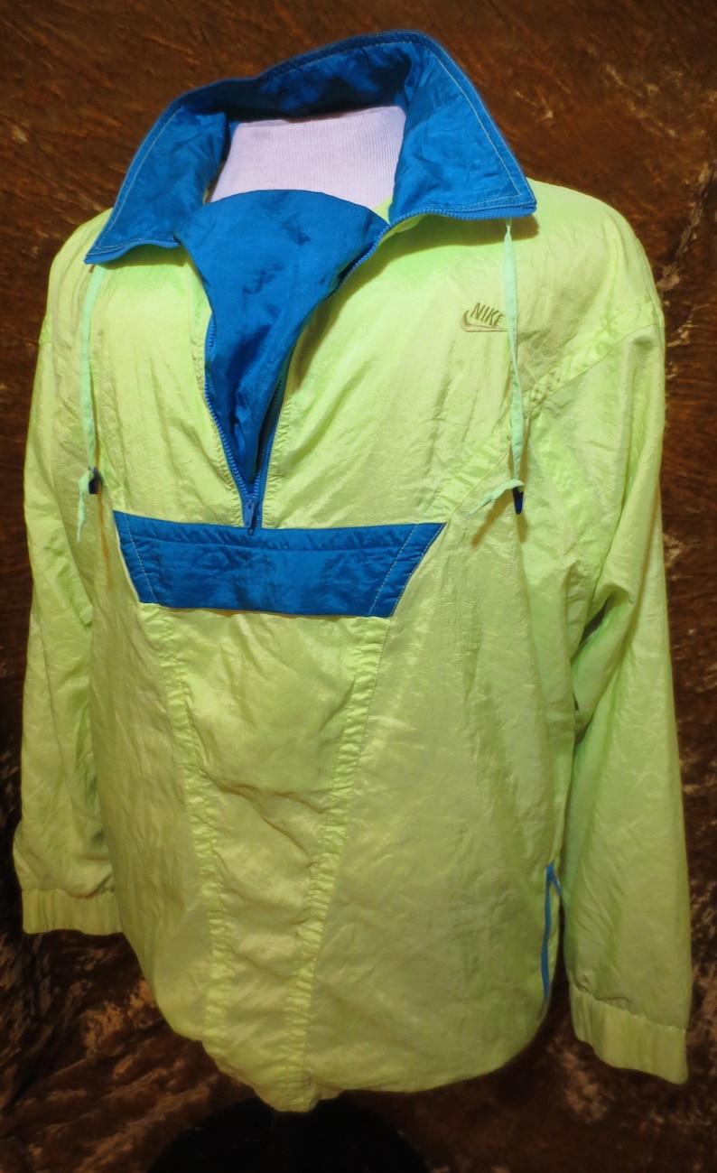 34678529f83e Vintage 90 s Nike Elite Bright Yellow Neon Windbreaker