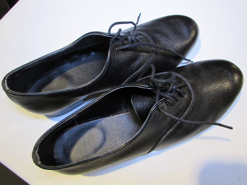 Halmor Black Leather Dance Shoes Mens Size 11 Made in Ireland-