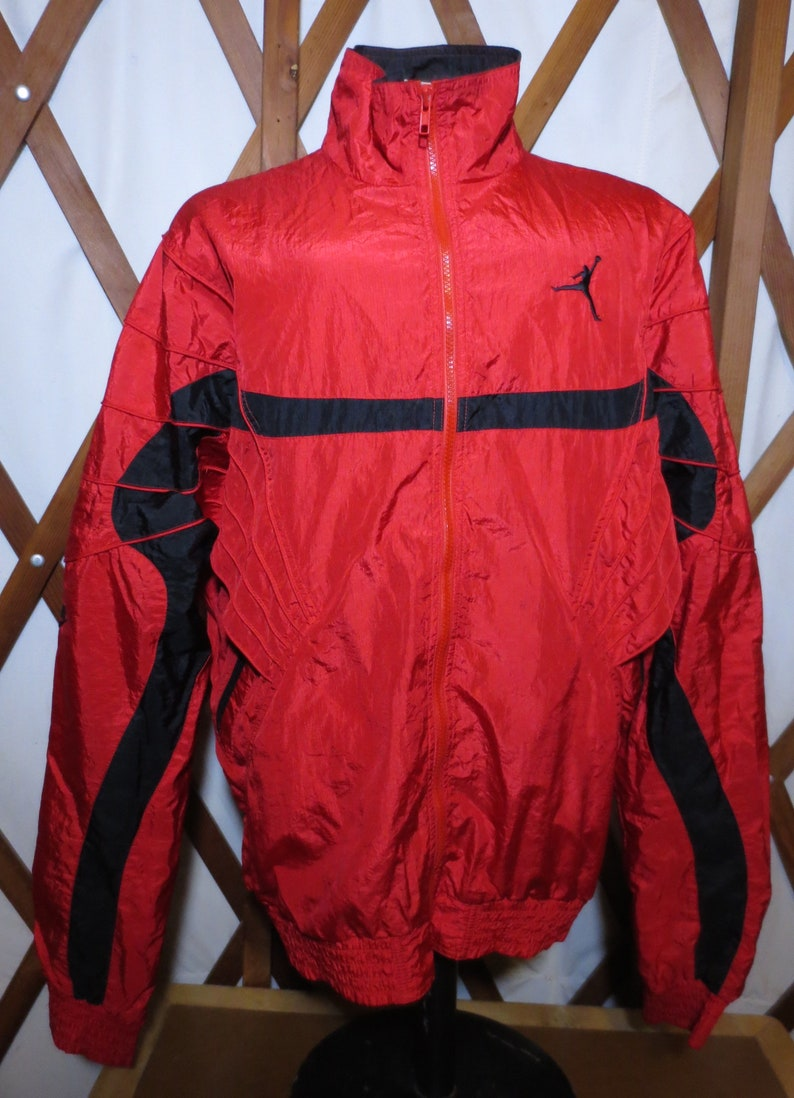 buy online 2c58c a0fc1 Vintage Nike Air Jordan Jumpman Flight Suit Red   Black Fresh   Etsy