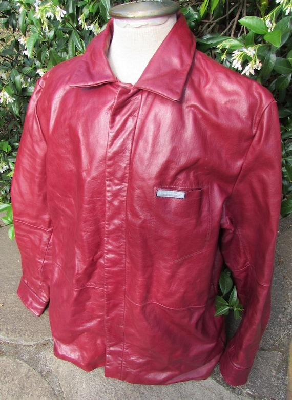 6865e920b208 Michael Jordan Red Leather Winter Jacket   Coat w  Magnetic