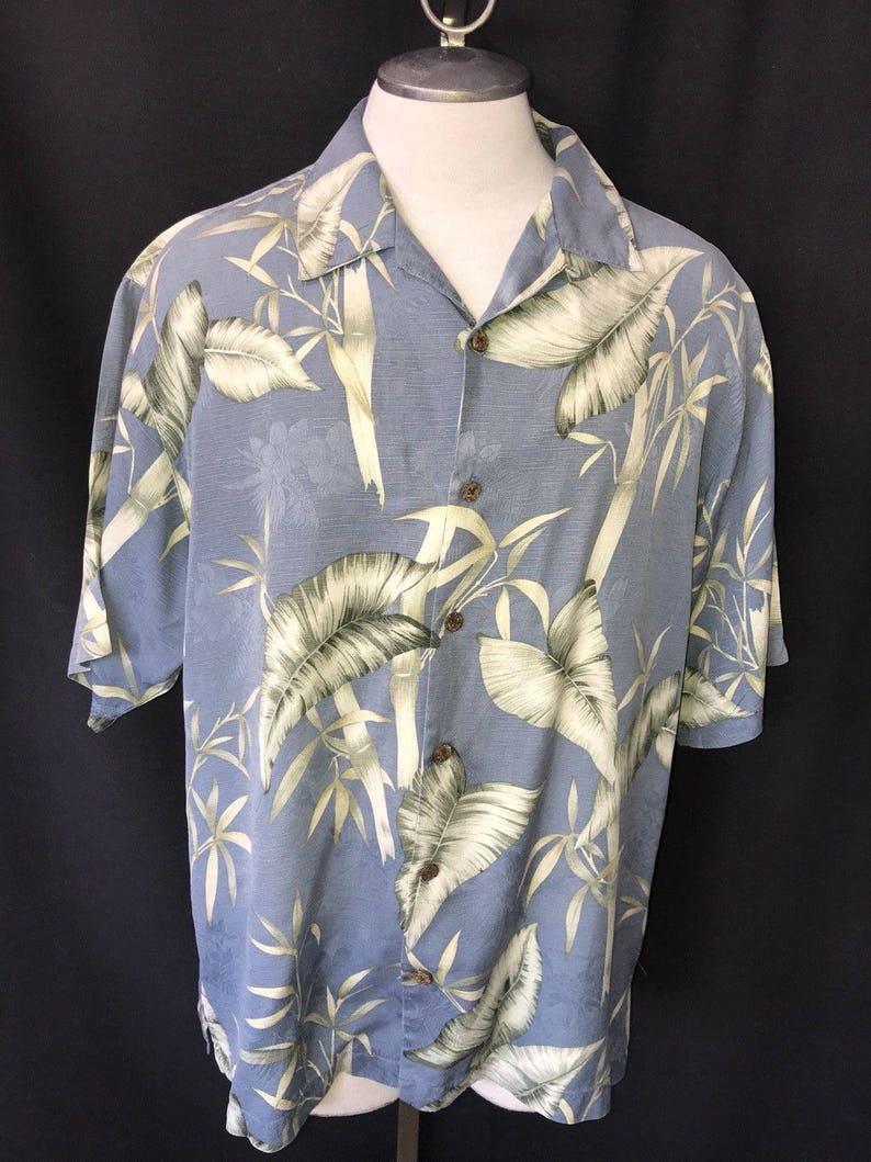 33793edc Tommy Bahama Men's Silk Hawaiian L large Camp Shirt Aloha | Etsy