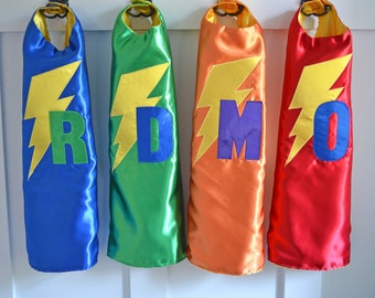 Personalized Superhero Capes for boys and girls/ Customized/ children's/ kids birthday party/superhero party/superhero cape/ Halloween Cape