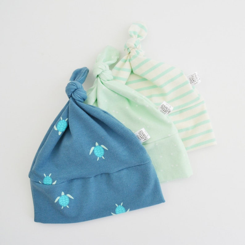 baby beanie Newborn baby hat knotted beanie organic baby hat Top knot baby hat organic baby beanie Unisex baby beanie baby hat