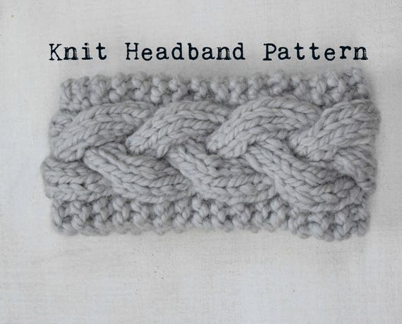 Knit Headband Pattern Digital Download Knit Braid Cable Etsy
