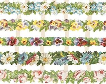 Vintage DIE-CUTS flowers gardening, 16,5 cm x 23,5 cm, 5.9 inch x 6.5 inch, The Weavers Mill 19334