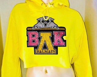 Blingy Yellow hoodie-Cropped version