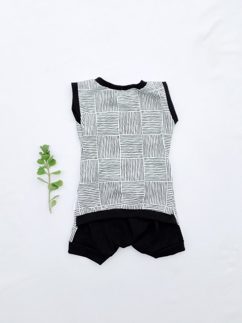 White Black OPENBACK ROMPER Summer Shorts Baby Modal Soft Stretchy Outfit Handmade Onepiece Dash 3-6m 12-18m Baby Boys