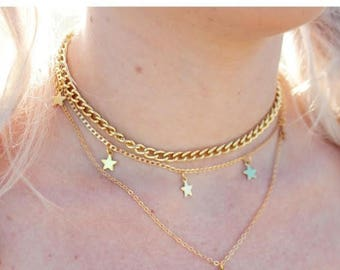 Gold Thick Chain Choker