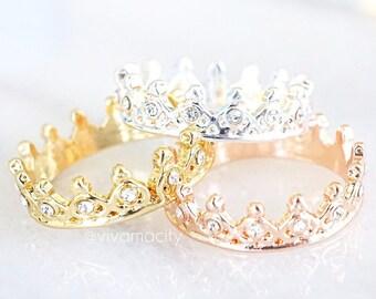 Diamond Crown Ring / Tiara Ring / Princess Ring