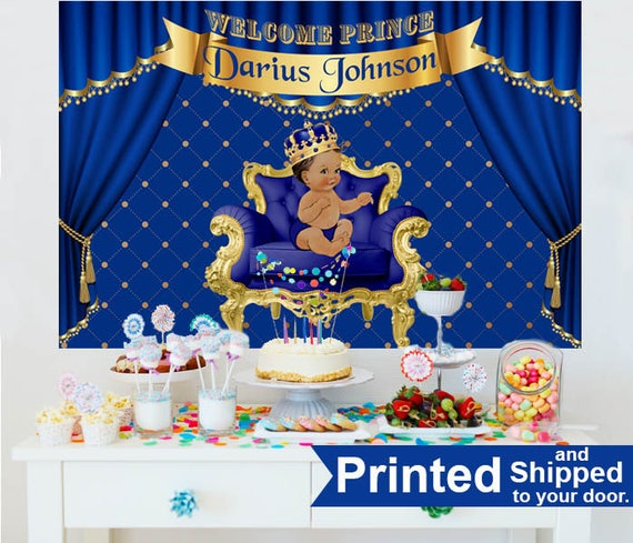 Royal Prince Baby Shower Cake Table Backdrop Prince Baby Boy Etsy