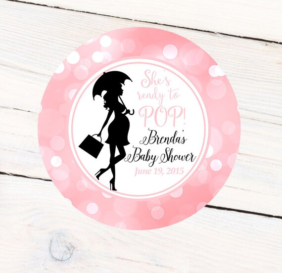 baby shower ready to pop personalized favor sticker baby