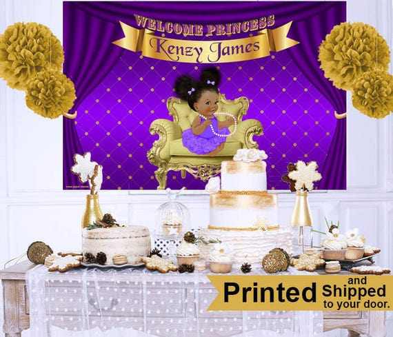 Royal Princess Baby Shower Cake Table Backdrop Princess