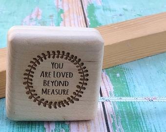 Personalised Wooden Tape Measure 2m long  - Loved Beyond Measure
