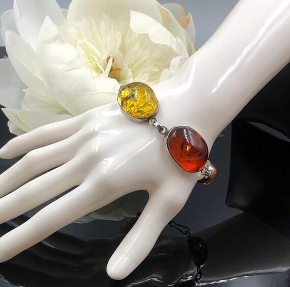 FANTASTIC GENUINE MULTI COLOR BALTIC AMBER FLOWER 925 STERLING SILVER EARRINGS