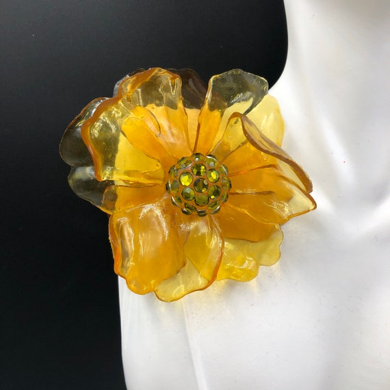 Cellulose Acetate Flower Brooch, Acrylic Flower Pi