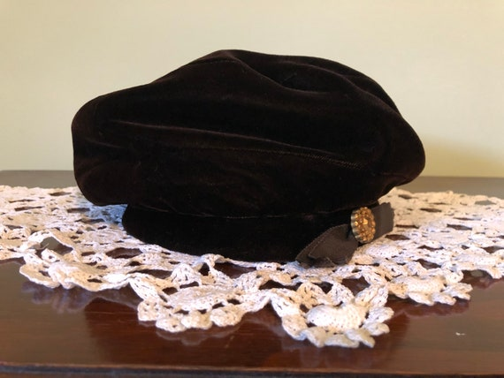 3 - 1960s hats, vintage satin and fur hat, vintag… - image 2