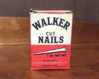 Vintage nails, Walker Cut Nails, vintage masonry nails, home restoration, vintage steel nails, steel nails, masonry nails, vintage cut nails