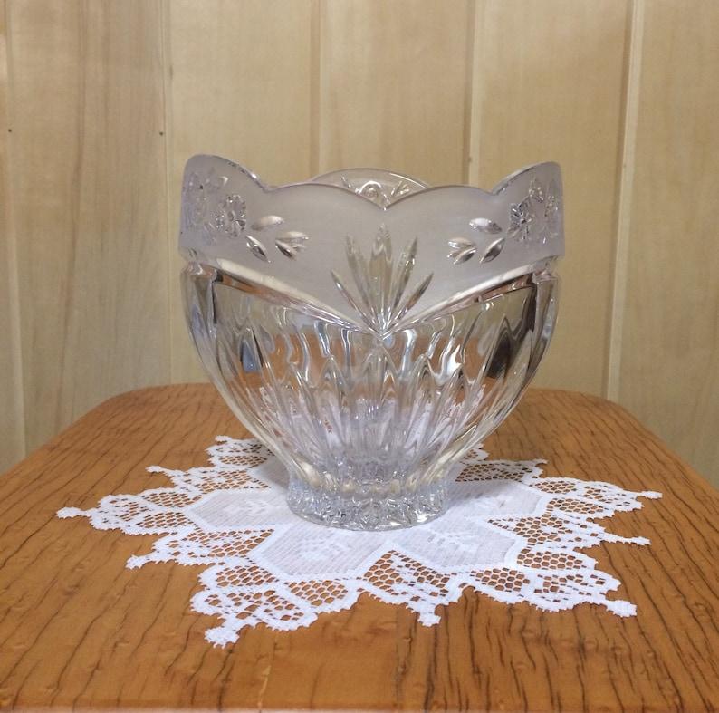 Potpourri Fai Da Te.Oneida Crystal Hostess Bowl Vintage Crystal Bowl Oneida Etsy