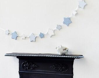 Blaue Sterne Girlande   Neue Baby Geschenk   Baby Junge Geschenk    Kinderzimmer Dekoration   Kinderzimmer Dekor   Holz Bunting   Girlande