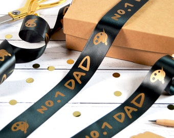Father's Day 38mm Personalised Printed Ribbon