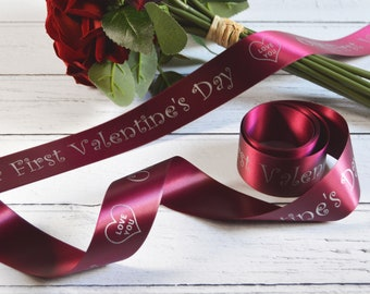 Valentine's Day 38mm Personalised Printed Ribbon
