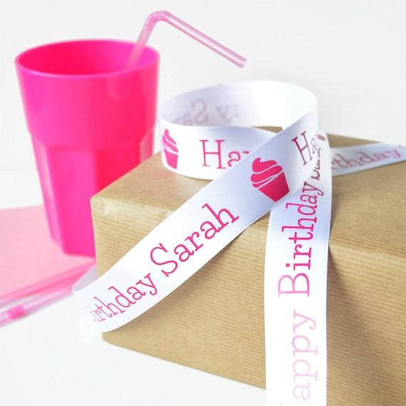 25mm Personalised Printed Ribbon Any Text Christmas Xmas Gift Wrapping