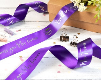 Thank You Teacher 38mm Personalised Printed Ribbon
