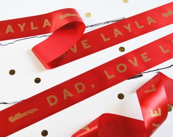 Father's Day 48mm Personalised Printed Ribbon - Father's Day Gift Wrap - Present for Dad - Best Dad - Gift for Grandad