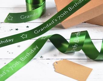 Birthday 38mm Personalised Printed Ribbon