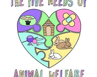 Die fünf Bedürfnisse des Tierschutzes