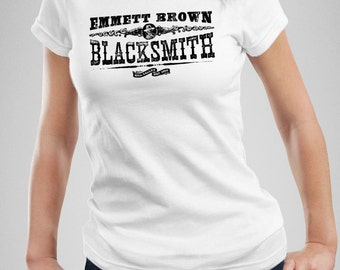 Emmett Brown Blacksmith - Back to the Future III Inspired Women's T Shirt - White