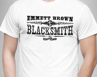 Emmett Brown Blacksmith - Back to the Future III Inspired Men's T Shirt - White