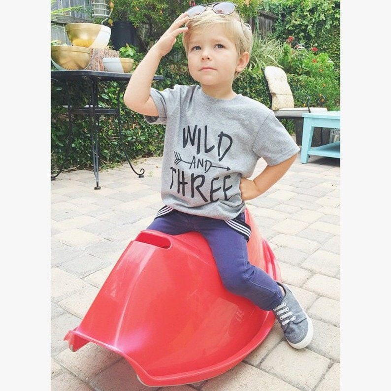 Wild And Three Shirt Toddler Birthday Tshirt 3 Year Old