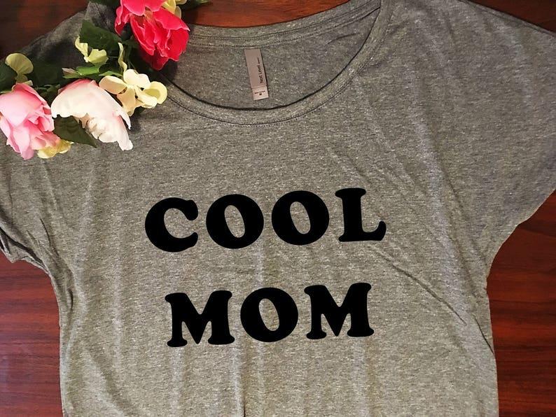 daca73f2858796 Cool mom shirt   Dolman style draped fit Womens tshirt