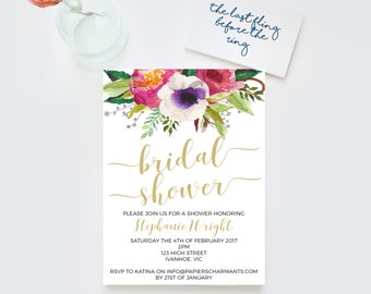 Bridal shower invitation, Hens invitation,Bachelorette invitation, bachelorette invitations, Bridal shower invite, bridal shower invitations