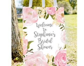bridal shower welcome sign shower welcome sign peony bridal shower sign pink bridal shower welcome shower sign