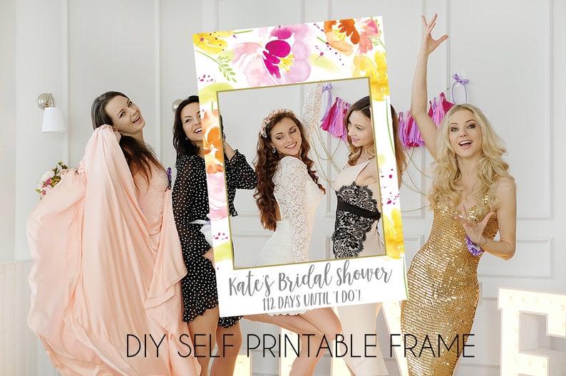 spring bridal frame photo booth frame instagram photo prop burnt orange bridal shower Bridal shower Photo Prop bridal instagram frame