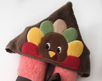Thanksgiving Gifts For Kids - Turkey Hooded Towel - First Thanksgiving - Kids Hooded Towel - Turkey Day Outfit - Turkey Day - Thanksgiving