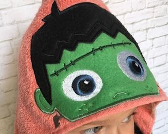 Halloween Baby - Halloween Frankenstein -Halloween Monster Birthday -Kids Halloween -Halloween Baby Shower -Halloween Kids Party - Towel