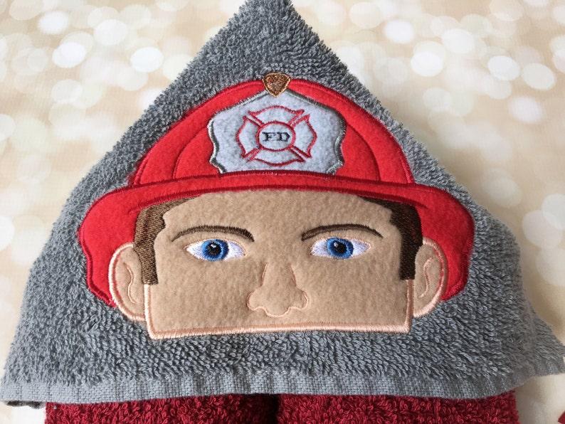 Firefighter Baby Girl Boy Firefighter Gift Firefighter Kids -Kid Hooded Towel Firefighter FIrefighter Baby Shower Firefighter Baby