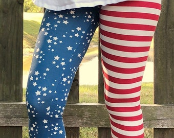 Memorial Day-Labor Day Outfit - Labor Day Party - American Flag Clothing - Patriotic Clothing For Women -Patriotic Leggings -Stars & Stripes