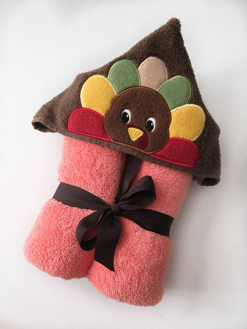 Thanksgiving Gifts For Kids  Turkey Hooded Towel  First image 1