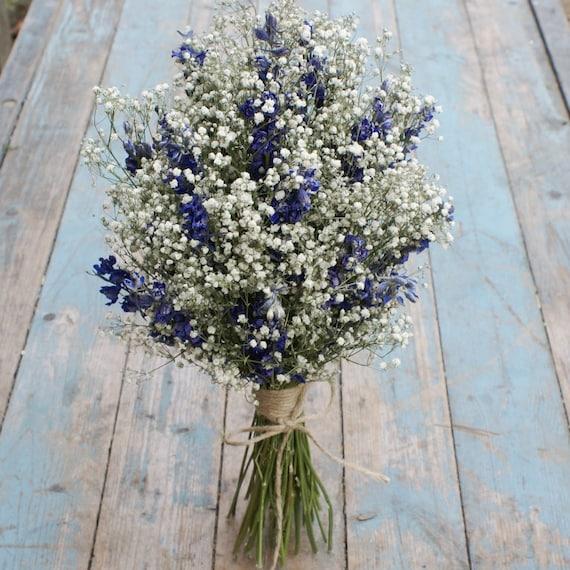 Boho Midnight Dried Flower Wedding Bouquet   Etsy
